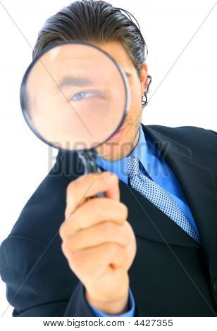Handsome Business Investigator