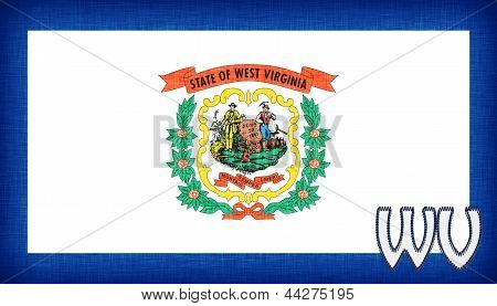 Linen Flag Of The Us State Of West Virginia