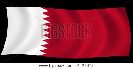 Qatar State Of Flag In The Wind