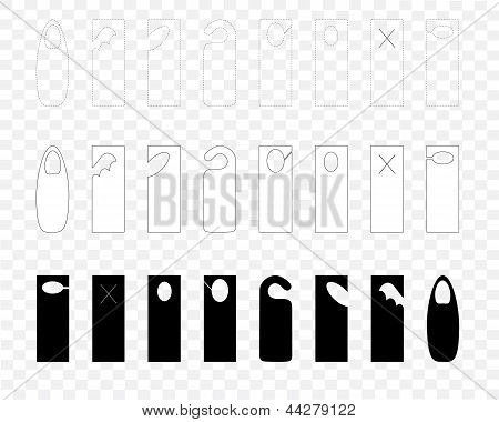 Blank Door Hanger Template Set