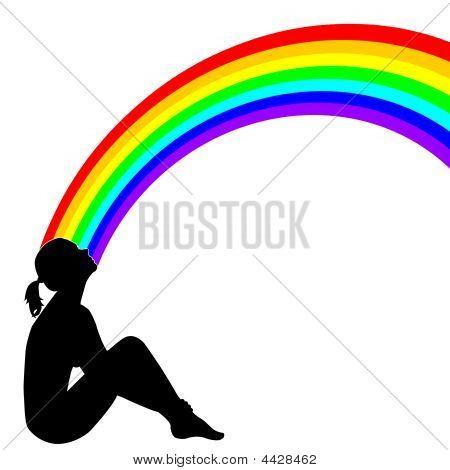 Girl With Rainbow