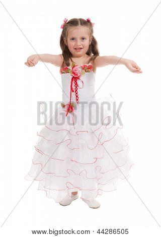 girl in a ball gown isolated