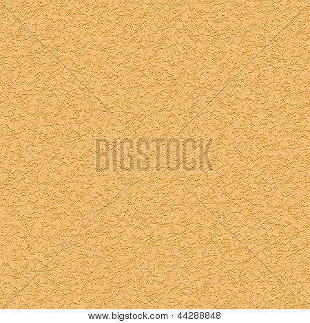 Seamless Texture of Yellow Striated Stucco Wall.