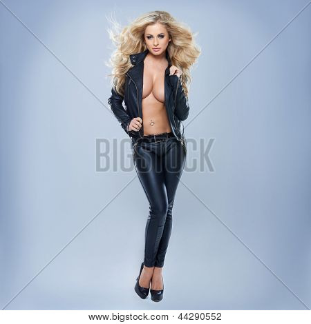 stock photo sexy blonde woman