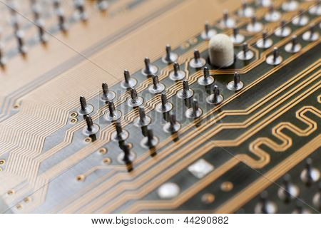 yellow computer circuit board