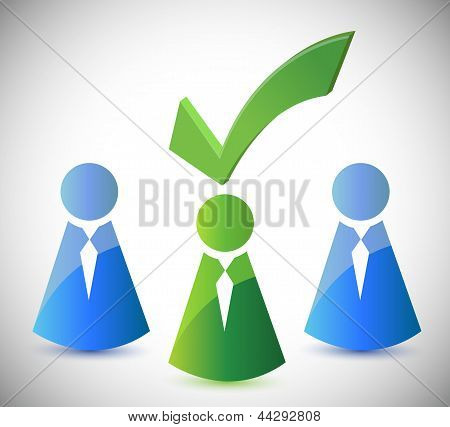 Candidate Selection Illustration Design