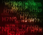 pic of avian flu  - H7N9 avian flu bokeh background - JPG