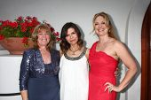 LOS ANGELES - APR 4:  Annie J. Dahlgren, Finola Hughes, Christina Eliason attends the gala fundraise