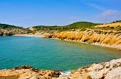 pic of nudist beach  - View of Home Mort Beach in Sitges - JPG