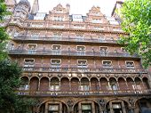 picture of munich residence  - an older Gothic looking apartment building in Munich Germany - JPG