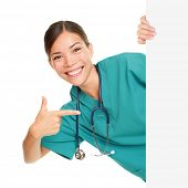 stock photo of nurse uniform  - Medical sign person  - JPG
