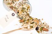 Homemade Muesli With Different Nuts And Oat