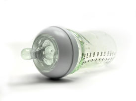picture of teats  - Glass Baby bottle with green rubber teat - JPG
