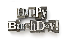 picture of happy birthday  - The phrase Happy Birthday photographed using a mix of vintage letterpress characters - JPG