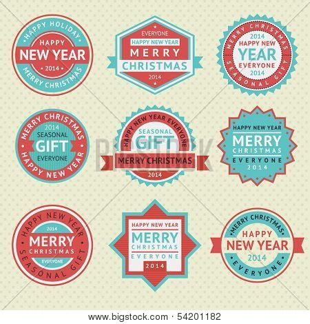 Set stickers for Christmas cards
