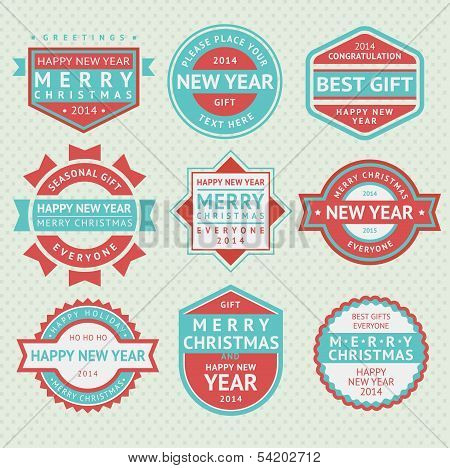 Set badges for Christmas cards