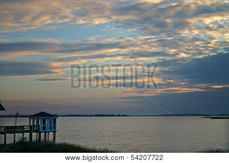 Gazebo and Sunset