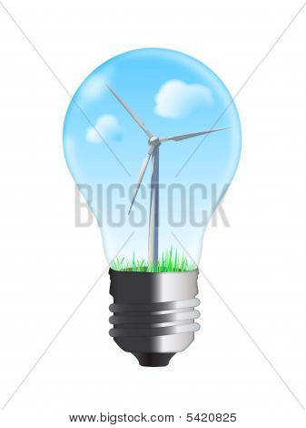 Wind Turbine In Bulb