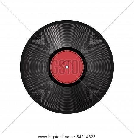 retro vinyl record - vector illustration