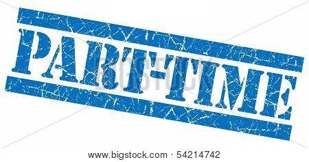 Part-time Grunge Blue Stamp