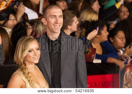 LOS ANGELES, CA - NOVEMBER 18: Los Angeles Laker Steve Blake arrives at the premiere of The Hunger Games: Catching Fire at the Nokia Theater in Los Angeles, CA on November 18, 2013