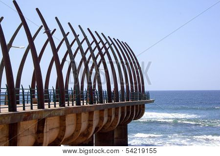 Scenic View Of The Pier At Umhlanga Rocks Durban South Africa