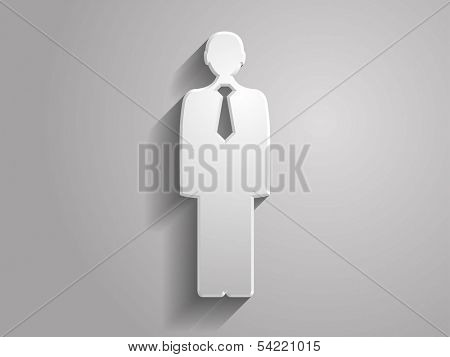 3d Vector illustration of  man icon