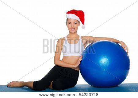 Asian Girl With A Ball In His Left Hand