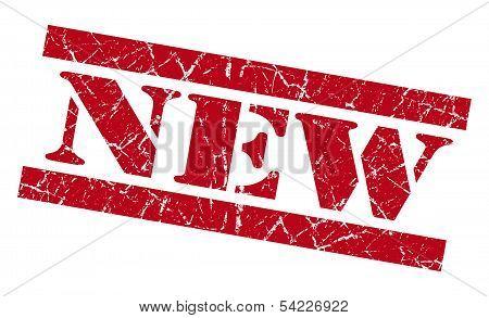 New Grunge Red Stamp