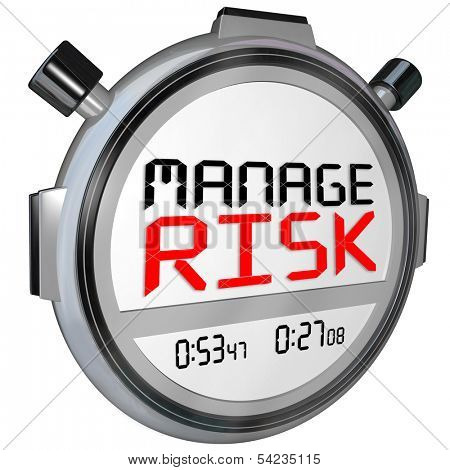 Manage Risk Stopwatch Reduce Liability Danger