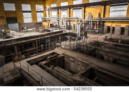 desolate metallurgical firm inside space