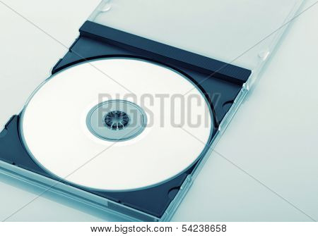 CD Case Open  on white background