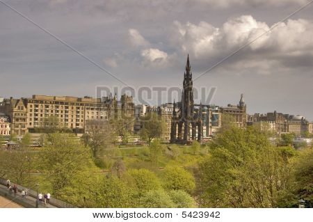 Princes Street Edinburgh Scotland
