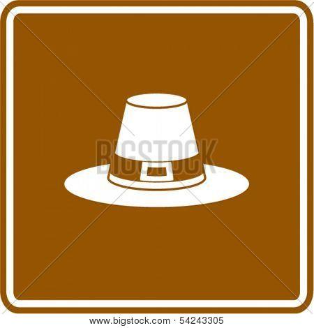 pilgrim hat sign