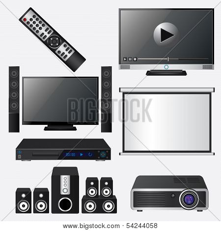 Audio and video icon set