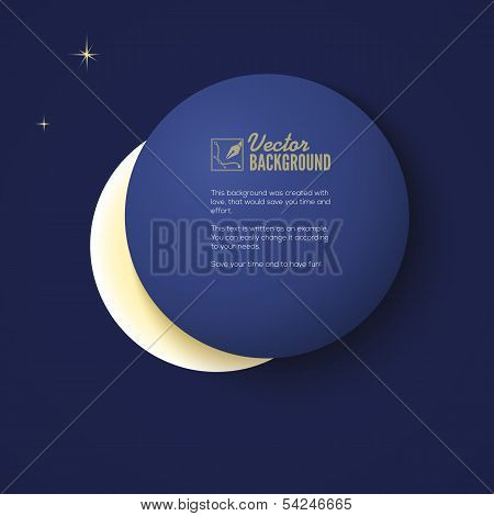 eclipse of the moon, background for your design