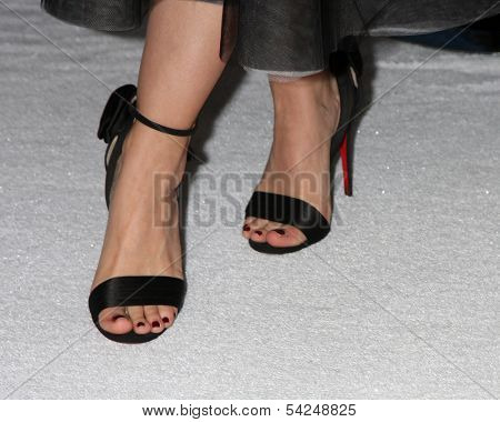 LOS ANGELES - NOV 19: Close-up of Kristen Bell's shoes at the