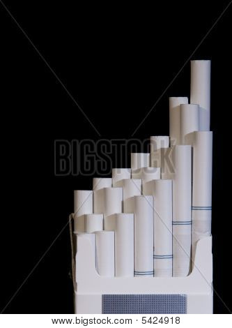 An Open Pack Of Cigarettes Leading Up