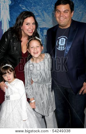 LOS ANGELES - NOV 19:  Annie Lopez, Kristen Anderson-Lopez, Katie Lopez, Bobby Lopez at the