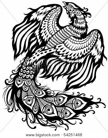 Phoenix Black White