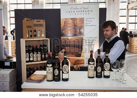 Italian Winemaker At Golosaria 2013 In Milan, Italy