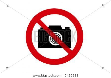 No Photo Prohibition Sign