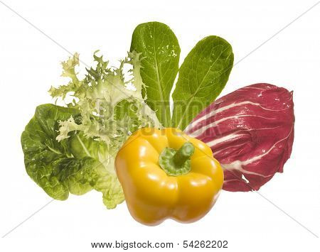 vegetables ingedients isolated