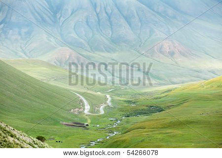 Mountain landscape with road