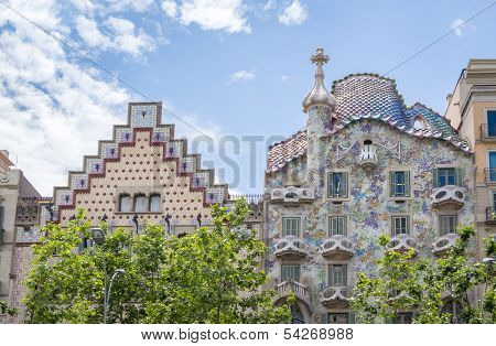 Casa Batllo and Amatller, in Barcelona, Spain