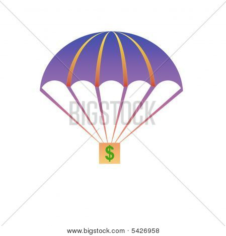 Parachute With Clipping Path