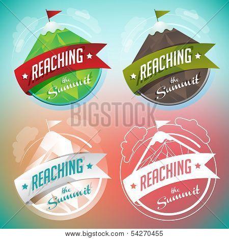 Mountain Badges Set