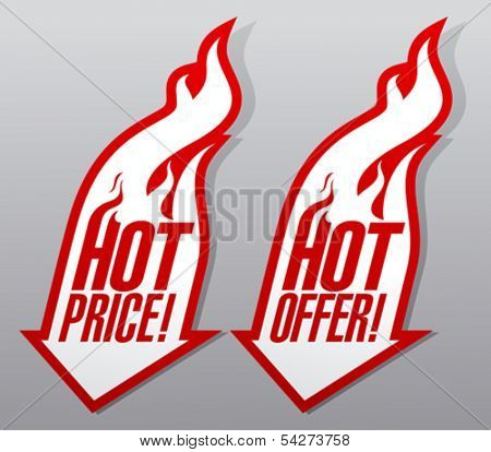 Hot offers fiery symbols.
