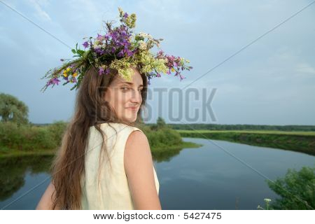 Girl  In Flower Chaplet