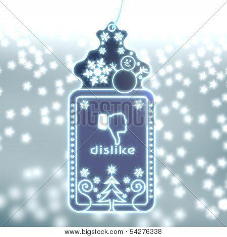 Magic Christmas Label With Dislike Sticker